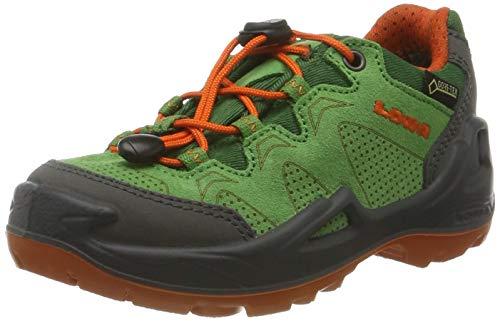 Lowa Unisex-Kinder Diego GTX LO Trekking- & Wanderstiefel, Grau (Grün/orange 7002), 34 EU