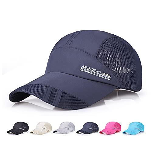 キャップ 帽子 メッシュキャップ 夏 軽量 通気性 メッシュ UVカット 紫外線 日よけ 速乾 軽薄 調節可能 おしゃれ 野球帽 登山 釣り ゴルフ 運転 アウトドアなどにメッシュ帽 男女兼用 (BU)