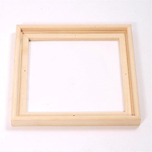 2 SCHATTENFUGEN BILDERRAHMEN PINIENHOLZ UNBEHANDELT für Leinwände & Keilrahm im Format 40 x 40 cm