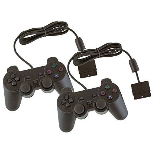 2x mando Dos mandos con cable compatible con Play Station 2 PS2/ PS One/PSII