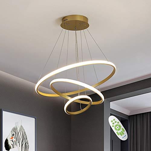 LED Dimmbare Hängelampe, 76W Moderne Einfache Kronleuchter Lampe, Fernbedienung mit Speicherfunktion, Höhenverstellbare Pendelleuchte, Geeignet für Wohnzimmer, Schlafzimmer, Esszimmer Deckenleuchte
