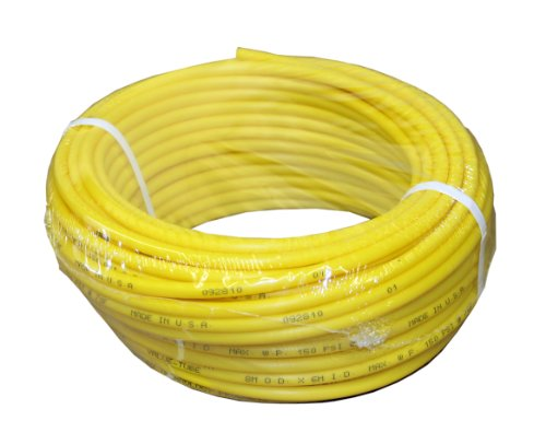 ATP IMBIBE NSF 61 Polyethylene Plastic Tubing, Yellow, 11/64