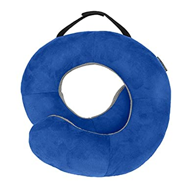 Travelon Deluxe Wrap-n-Rest Pillow, Cobalt/Gray