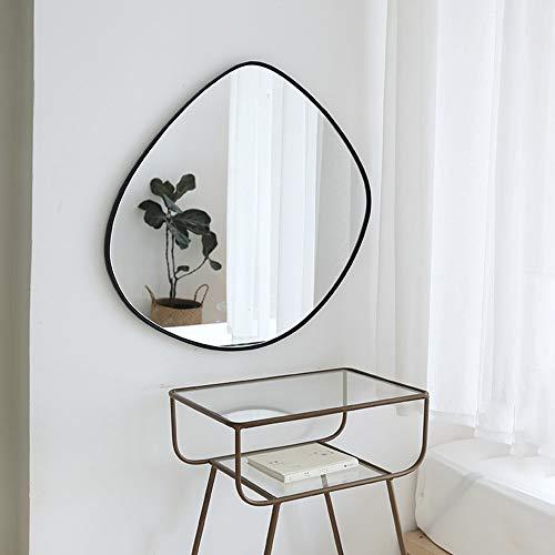 BIKARSOUL Irregular Wall Mirror Iron Mat Black Framed Entryway Wall Decor