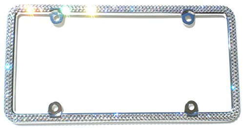 Cool Blingz 2 Row Crystal License Plate Frame Rhinestone Bling Made with Swarovski Crystals -  SW2Crys20C