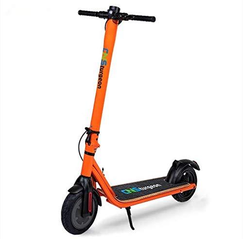 Scooter Elettrico Scooter pieghevole CNSturgeon Z9 E-Scooter con App -Batteria 7.5Ah-250W -MAX 25 m/h -8.5 '-Display LED Nero (arancia)