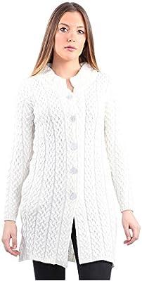 Montrex White Long Coat for Women