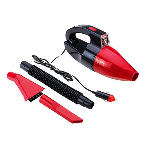 ALIKEE 12V 60W Car LED Vacuum Cleaner Portable Handheld Wet and Dry Dual Vacuum Cleaner