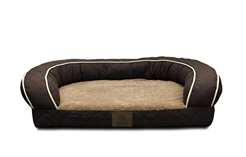 AKC Sweet Dreams Large Quilted Orthopedic Pet Sofa Couch Bed