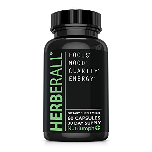 Brain Supplements – Memory Supplements 100% Plant Based – Vegan Friendly Brain Supplements to Improve Memory and Concentration, Boost Focus, Enhance Clarity and Lift Mood – Brain Vitamins by Herberall