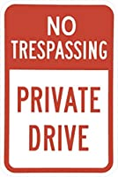 私有財産立ち入り禁止ティンプレートレトロ面白いバイオ鉄塗装金属プレートノベルティ12x8インチ