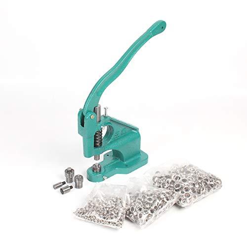 YORKING 1500 Ösen Ösenpresse Ösenstanze Nietenpresse Druckknopfpresse Handpresse Set für Ösen Nieten Textilien und Leder