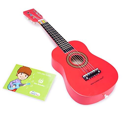 New Classic Toys - 10341 - Musikinstrument - Spielzeug Holzgitarre - Rot