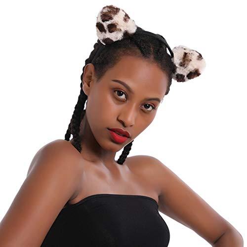 Stirnbänder Tierhaarband Tentakel Haarbänder für Frauen Mädchen Halloween Party Dekoration Kopfbedeckung Simulation Elch Horn Kaninchen Katze Haarbänder für Weihnachten Gr. Size_Name, Katze beige