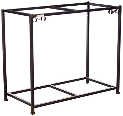 Caitec Bird Toys TitanEzeDouble Aquarium Stand, Two Stands in One, Upper & Lower Levels, Birds, Fish, Small Animals, 30 Gallons, 38-1/2L x 29H x 13W