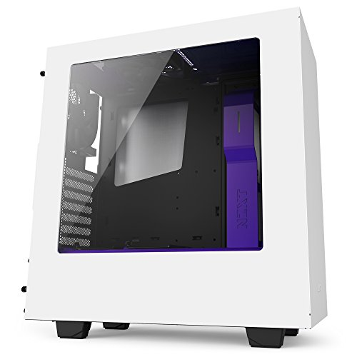 NZXT S340bianco/viola MIDI Tower Gaming case–USB 3.0