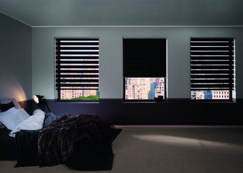 Dubbel rolgordijn/duorolgordijn SPACE voor plafondmontage en wandmontage, kleuren: wit, crème, antraciet, afmetingen: 60-140x160cm, bediening via ketting - mydeco 60x160cm antraciet