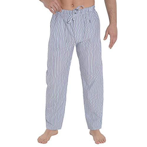 Die Eule Nachtwäsche Pyjama Suelto für Herren Pyjama Pyjama Pyjama Klassische Streifen- oder Karo-Schlafanzug für Herren Popelin-Baumwolle, 19PV8961P40T04, Grün, 19PV8961P40T04 L