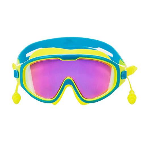 RAQ zwembril oordopjes jongens en meisjes badkleding brillenkoker zwembril anti-condens anti-UV-duikuitrusting