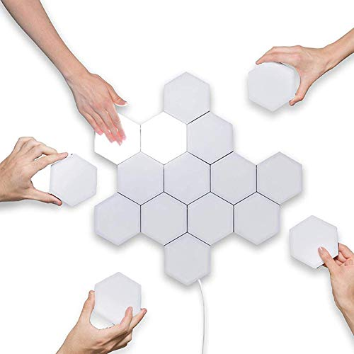 ZDSKSH Empalme Inteligente LED de luz, lámpara de Pared Hexagonal, Las Luces Modular Touch Sensitive Panal Decorativo para Decoración del Hogar, Regalo (10 Lights)