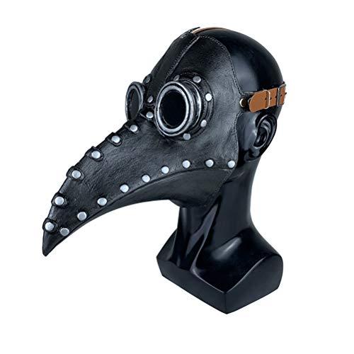 MeiLiu Máscara Facial de Halloween, Doctor de la Peste Máscara Accesorios de Halloween Disfraz Steampunk Gótico Cosplay Máscara de pájaro Retro