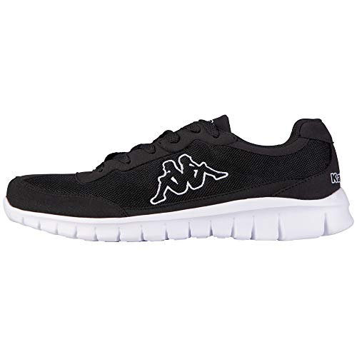 Kappa Rocket, Zapatillas Unisex Adulto, Negro Black White 1110, 44 EU