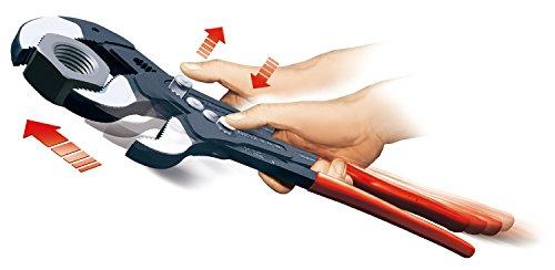 KNIPEX 87 01 560 Cobra® XXL Rohr- und Wasserpumpenzange grau atramentiert mit Kunststoff überzogen 560 mm