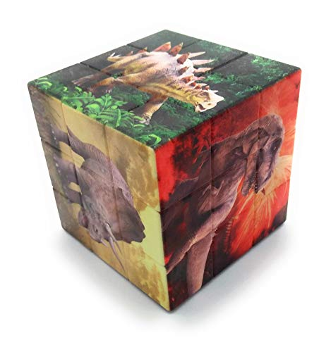 shiani jurassic world fallen kingdom cube plastic puzzle game for kids and adults (Multi color)