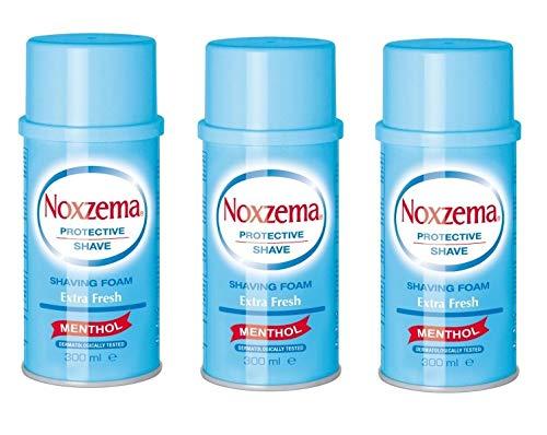 3x Noxzema Shaving foam Cream seife Rasierschaum weiß Menthol 300ml Blue