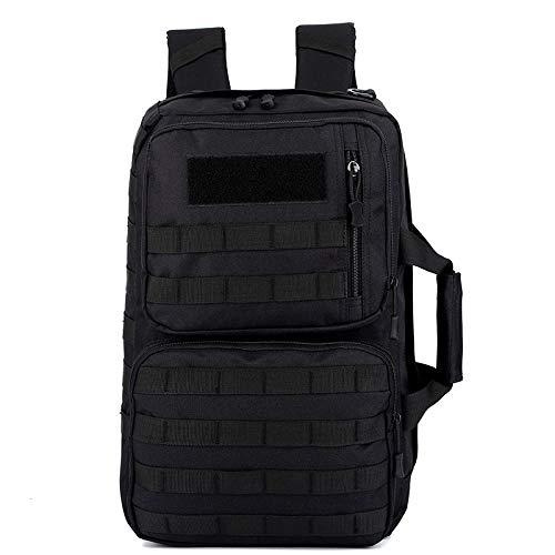 militaire rugzak, trekkingrugzak, camouflage, tactische tas voor laptop, mol, camping, sporttas, reizen, Blanco Y Gris (zwart) - HBP117