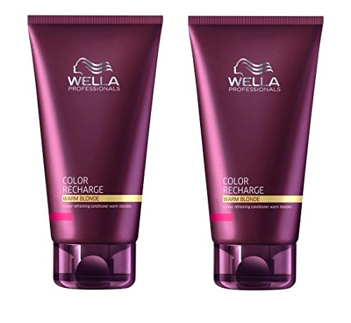 2x Wella Care Color Recharge Farbauffrischender Conditioner für warme Blondtöne 200 ml