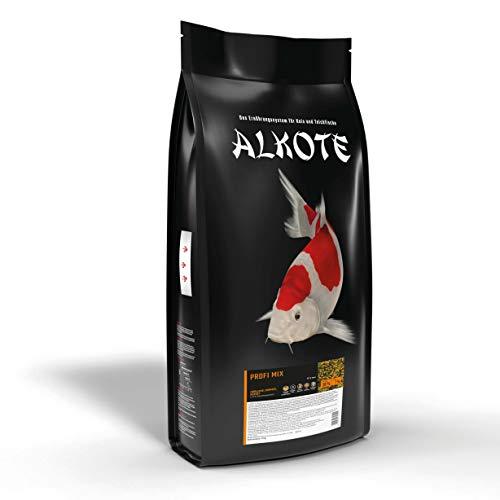 AL-KO-TE, 3-Jahreszeitenfutter für Kois und Zierfische, Frühjahr bis Herbst, Schwimmende Pellets, 6 mm, Hauptfutter Profi Mix, 9 kg