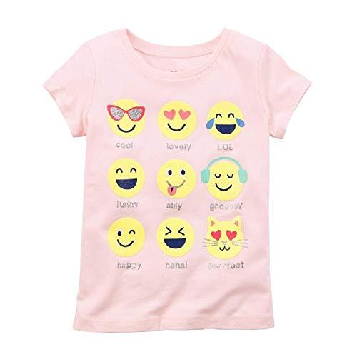 Hooyi - Camiseta de Manga Corta para bebé, diseño de emoticonos, Color Amarillo Rosa Rosa 6 Meses
