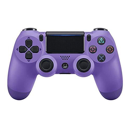 Wangdahua Controller Wireless DualShock 4 per Playstation, Console di Gioco PS4 Bluetooth Controller Wireless Dual Vibrazione (con Tappo a Rocker),Roland Purple