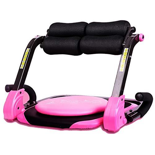 Bauchmuskelmassagegerät, Fitnessgeräte, geeignet für Krafttraining, Bauchmuskeln und Ganzkörperübungen (Color : Pink, Size : 54 * 43 * 40cm)