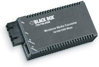 Black Box MultiPower Miniature Media Converter, 10-/100-/1000-Mbps Copper to 1000-Mbps Fiber, Autosensing, Duplex, Single-Mode, 1310-nm TX/1550-nm RX, 10 km, SC