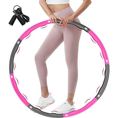 DUTISON - Pneumatici fitness Hoop, per adulti e bambini, per la perdita di peso, 6-8 segmenti rimovibili, pesi con corda