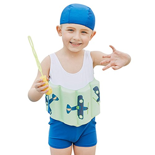 DoMyfit Jongens Zwemkleding Zwemkleding Zwemkleding Zwemkleding Kinderen Zwemkleding Trainingssteun Jas Vest Suit met Zwemmuts Arm Floaties