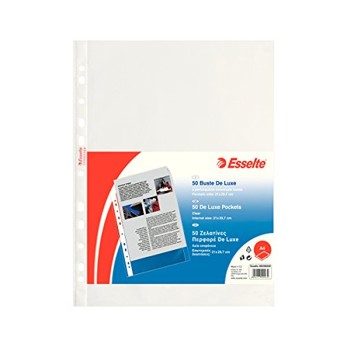 ESSELTE Buste perforate DELUXE - PPL lucido - f.to A4 - 395009300