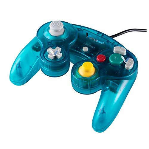 Control Alámbrico - Generico Compatible Para Nintendo GameCube - Color Turquesa Crystal - Marca Virtual Zone