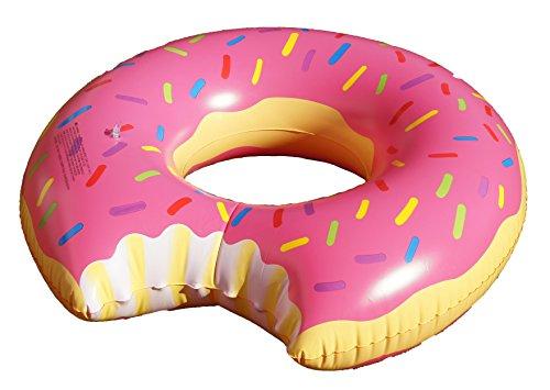 HPT Großer aufblasbarer Donut Schwimmring / Schwimmreifen Donut mit Biss Style Pool Toy ~110cm