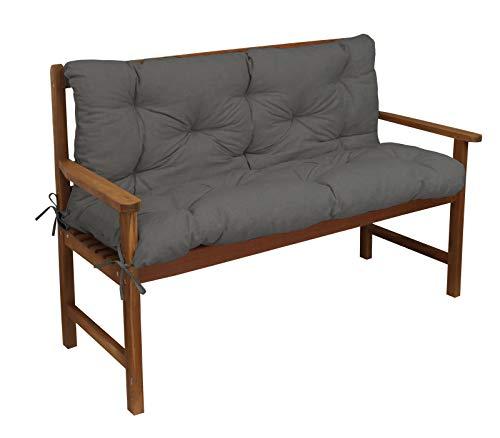 Kettler Polen Luxus 3-Sitzer Bankauflage inklusive Rückenteil Grau 2170
