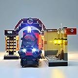 RTMX&kk Juego de Luces LED de para Expreso de Hogwarts Modelo de Bloques de Construcción, Kit de Luces Compatible con Lego 75955 (NO Incluido en el Modelo)