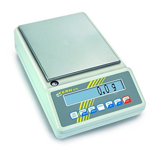 Kern & Sohn  wlpb3000572Serie Präzisions-Waage, ohne Zulassung, 150mm Durchmesser Plattform, 3000g Bereich-Wägezelle, 0.01g Graduierung 0.02G, Reproduzierbarkeit