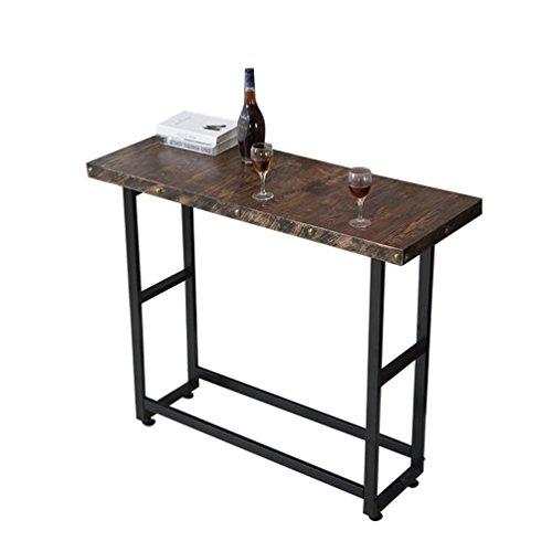 ZXL Vintage Bar Tafel, Industriële Wind Huishoudelijke Bar Hoge Tafel Koffietafel Koffietafel Lange Tafel Kenmerken Restaurant Decoratie Eettafel 120 * 40 * 105CM Meubels (Kleur # 5)