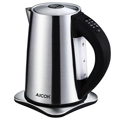 Aicok Wasserkocher Edelstahl, Wasserkocher Temperatureinstellung mit...