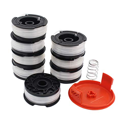 Pack of 8 Line Spool & Cap Cover Spring for Black and Decker String Trimmer GH400 GH500 GH600 GH610 GH900 GH912 ST6600 ST7000 ST7700 CST1000 CST1200 CST2000 MTC220 MTE912 NST2018 NST1118 NST2118