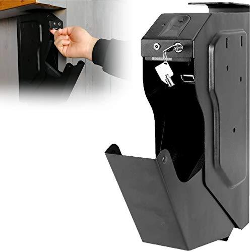 WDSZXH Biométrico de Huellas Dactilares Arma de la Caja, Acceso rápido Caja de Seguridad de la Pistola con la Huella Digital y la Llave de Repuesto
