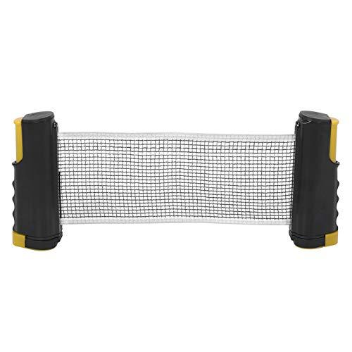 rutschfeste Tischtennisplatte Einziehbares Teleskop-Tischtennisnetz für alle Arten von Tischtennis(Wavy Yellow Black)