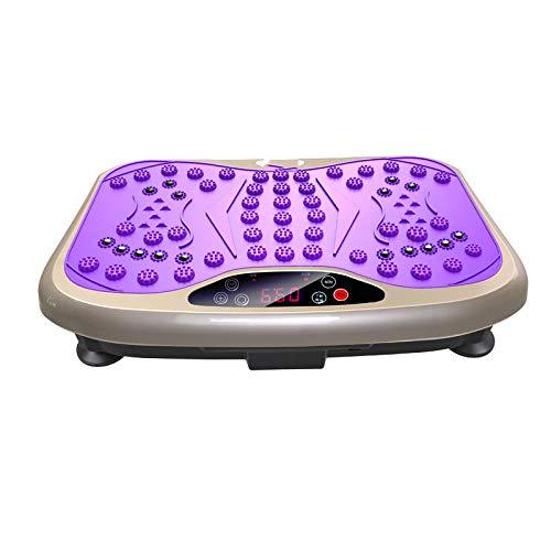 Topashe Plataforma Vibratoria Ultra Slim,Máquina para Levantar y agitar Grasa, máquina de Adelgazamiento para Ejercicio Perezoso-púrpura,Vibratoria Máquina de Ejercicio